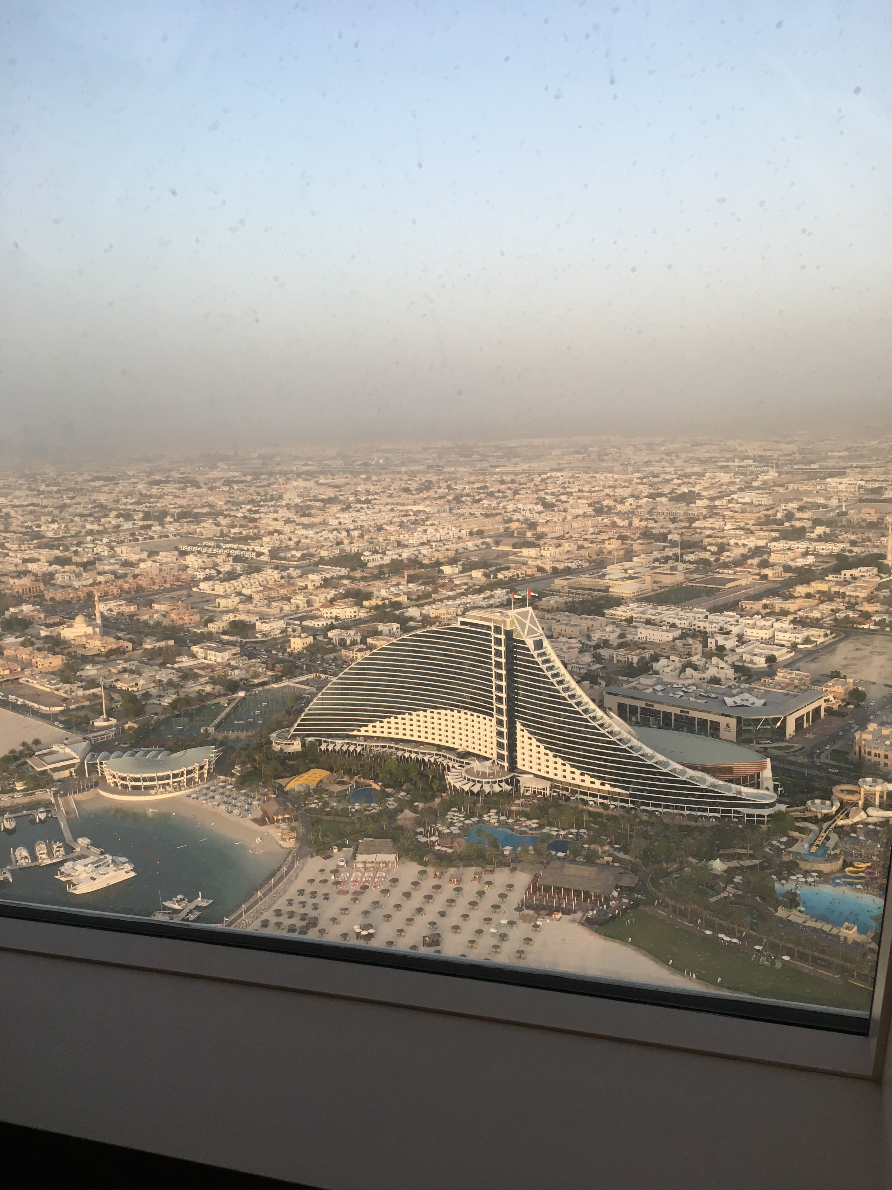 View from Gold on 27 overlooking the Jumeirah Beach Hotel