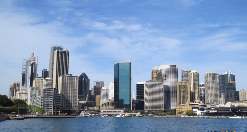 View of the city from the Manly Ferry